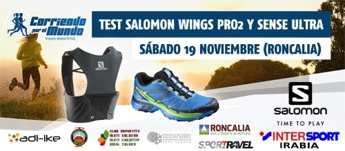 Test Salomon zapatillas Wings Pro 2 y mochila Sense Ultra